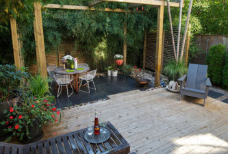 Asian Fusion - Leslieville, Toronto - Backyard Landscape Design - Backyard Garden - Zen Garden