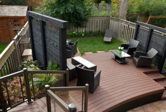 Contemporary Backyard Design - Deck Design