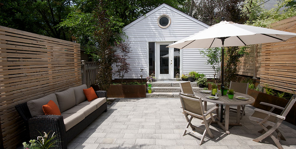 Urban Pocket Garden - Riverdale, Toronto - Backyard Landscape Design
