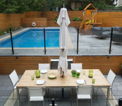 Modern Contemporary Backyard Garden - North York - Toronto