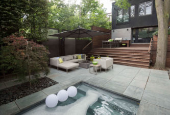 urban spa retreat-Modern Backyard Design,