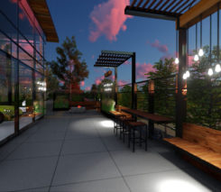 Sander Design - Modern Backyard landscape design - Vaughan